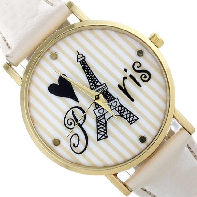 "Fashion Leather ""Paris"" Watch"