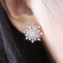 SnowFlake Crystal Earrings