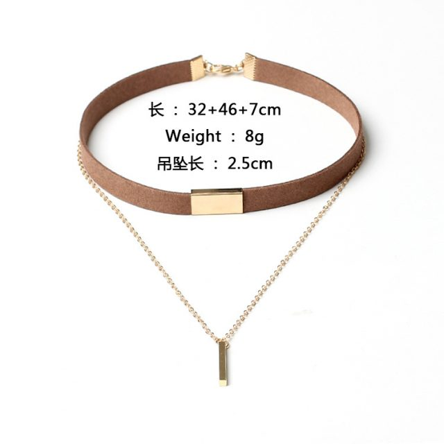 Women's Multilayer Choker with Chain