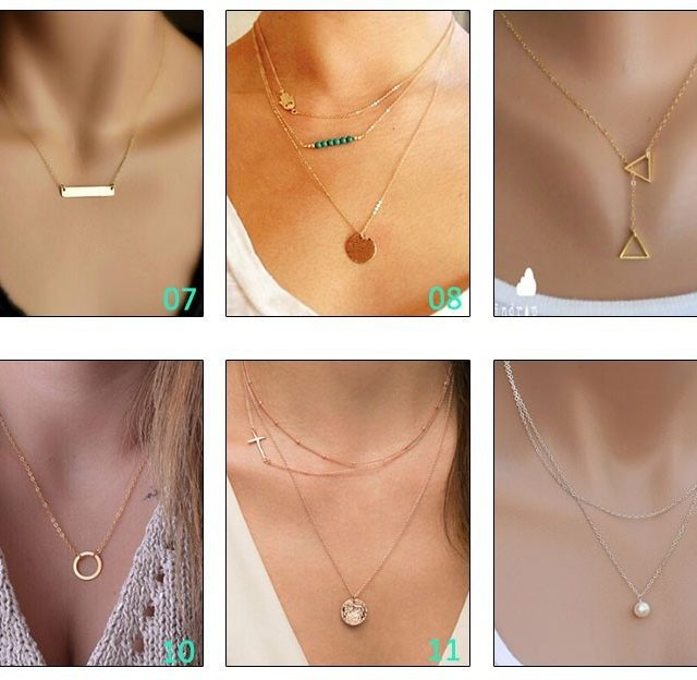 Multilayer Chain Necklaces
