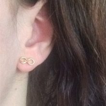 Gold Infinite Shaped Earrings
