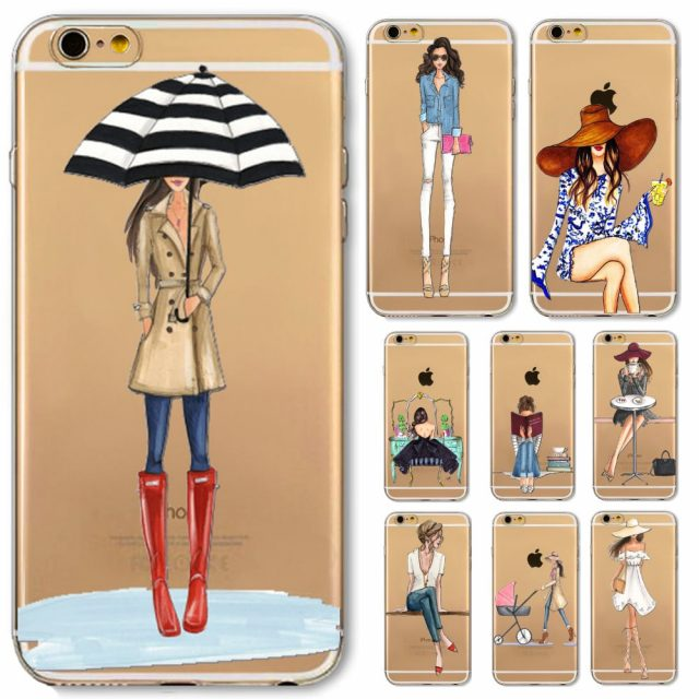 Fashion Doll Phone Cases for iPhone 4/5/6/7