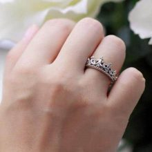 Queen's Silver Crown Ring For Women