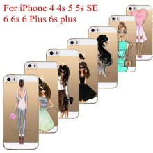 Beautiful Love Girls Dress Cases For iphone 4/5/6