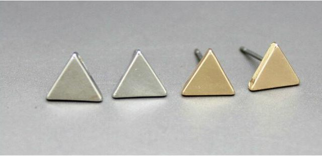 Triangle, Round and Flash Form Earrings