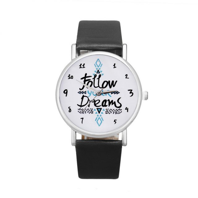 Follow Your Dreams Leather Watch