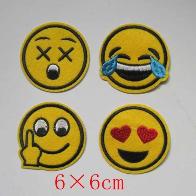 4 Pcs Patch Smiley Face Iron On