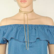 Long Rope Suede Choker Necklace