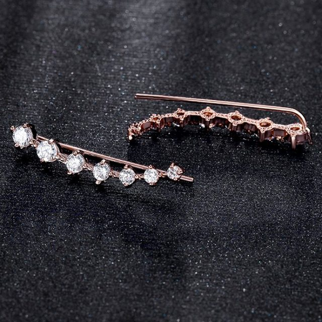 Plated Dipper Hook Stud Earrings