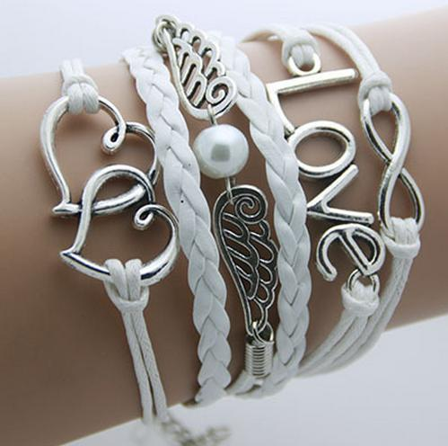 Retro Romantic Leather Layered Bracelet
