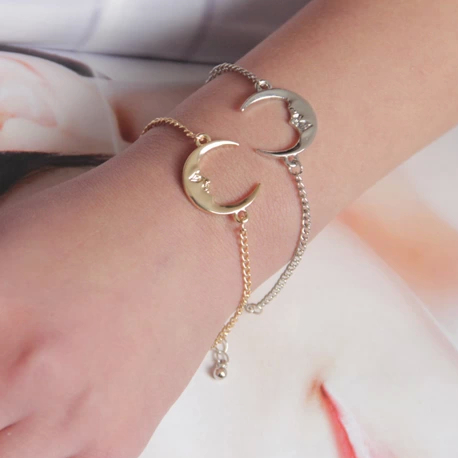 Moon Face and Star Bracelets