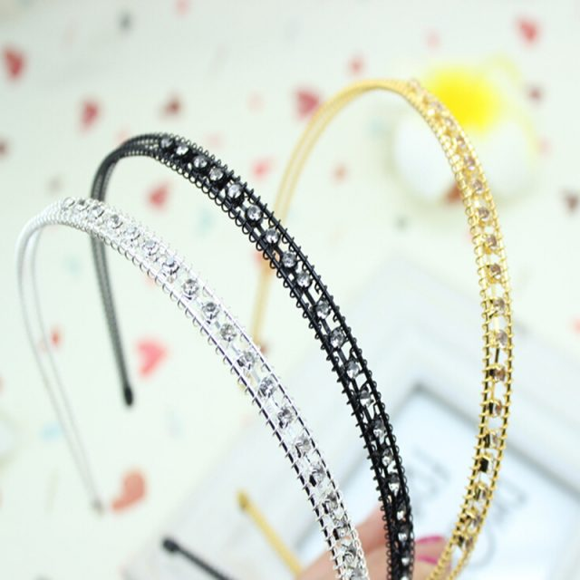 Colorful Stone and Crystal Chain Headband