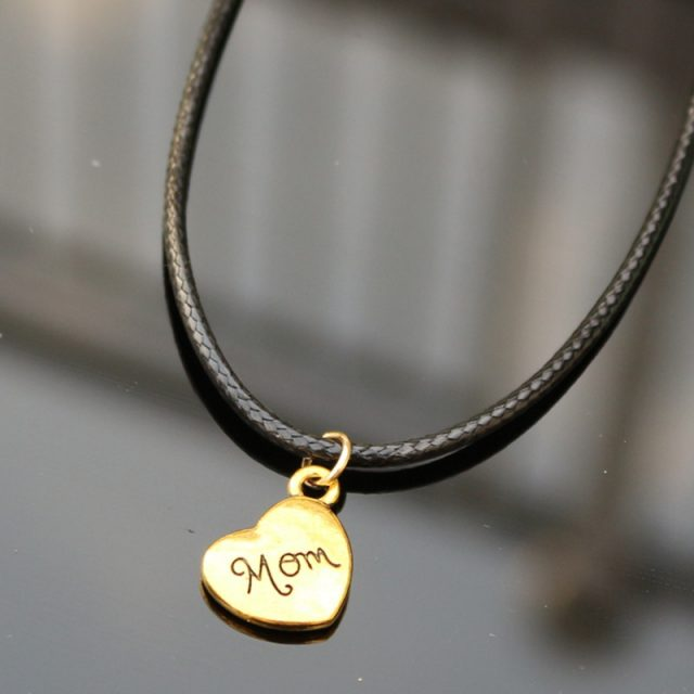 Leather Necklace with Vintage Pendant