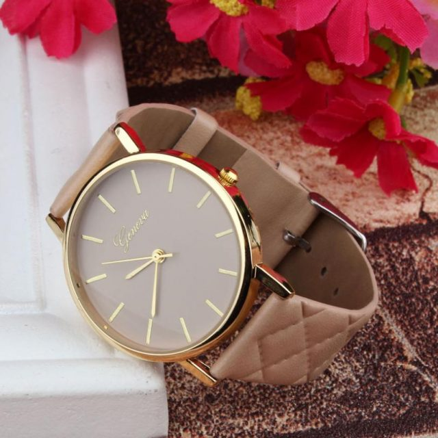 Geneva Leather Watch