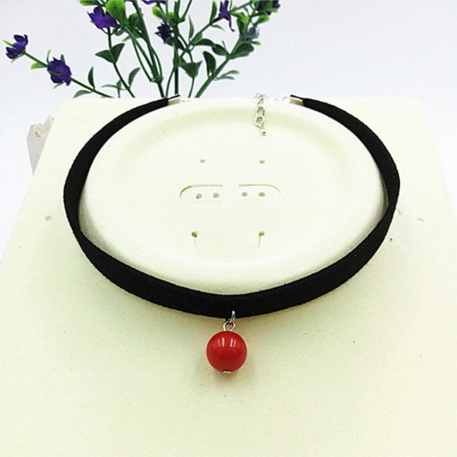 Black Choker with Pendant