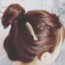 Hairbrush Shaped Hair Clip