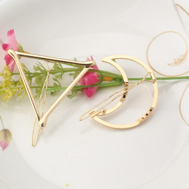 Gold Shaped Hair Clips