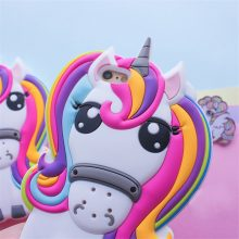 Cute 3D Rainbow Unicorn iPhone Case
