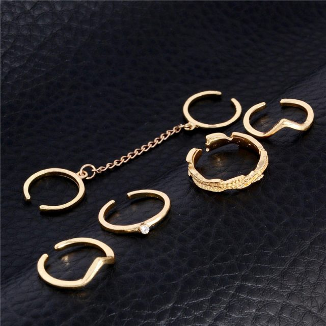 Set Of 6 Midi Finger Knuckle Rings