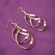 Hollow Leaf Long Earrings