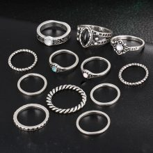 Fashion Vintage Bohemian Ring Set