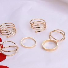 6 PCS Retro Rings