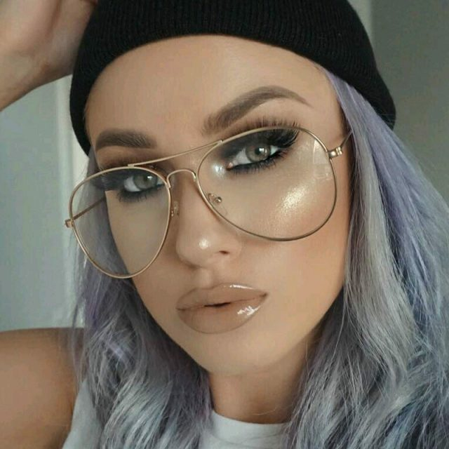 Stylish Classic Aviator Clear Lens