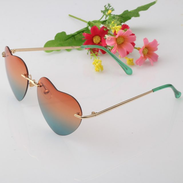 Candy Color Heart Shaped Sunglasses