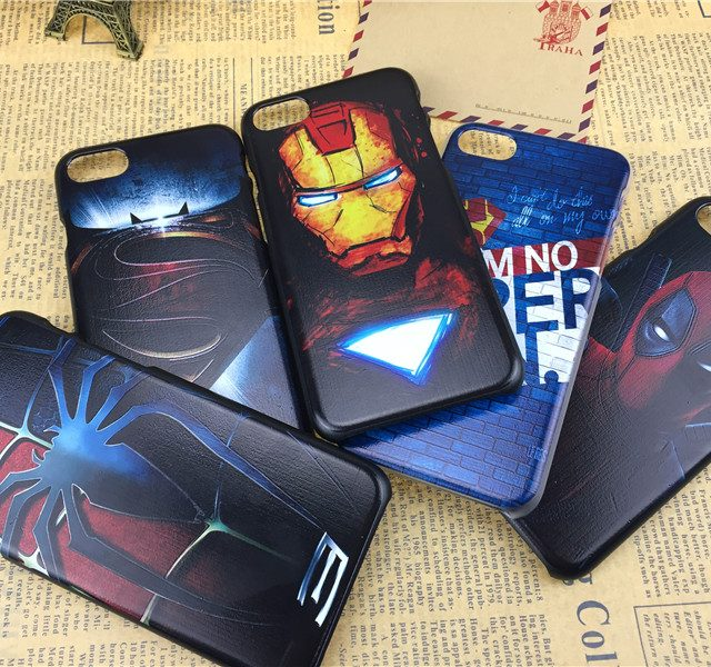 Marvel Super Hero Hard PC Phone Cases For iPhone
