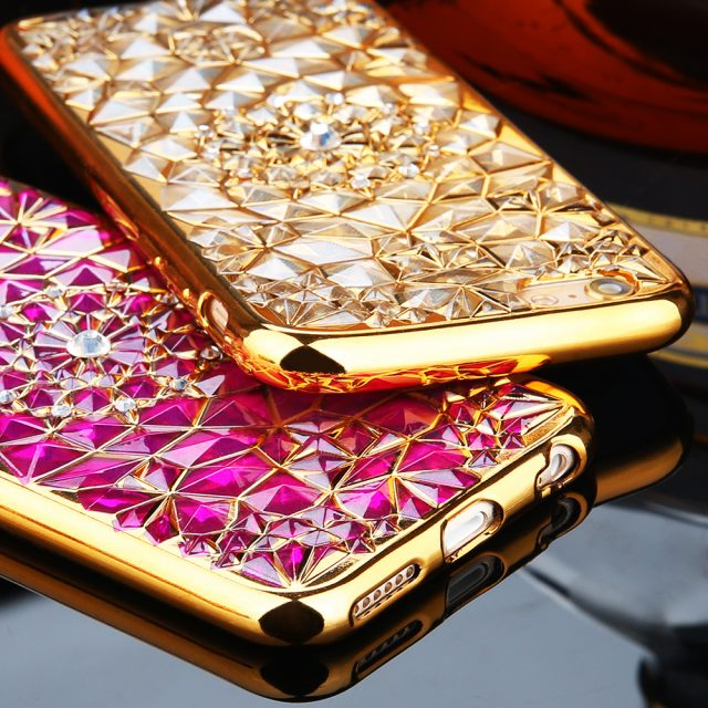 Diamond skin cover for iPhone