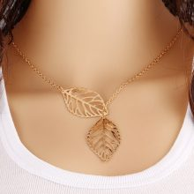 Two Leaves Bohemian Necklace