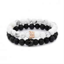 Crown His and Her Lovers Distance Bracelets – New Version