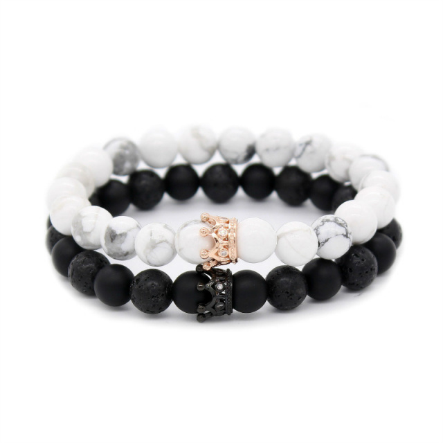 Crown His and Hers Lovers Distance Bracelets – New Version