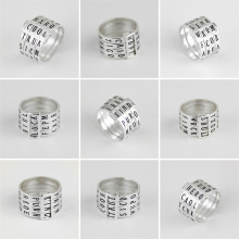 Rotatable Sterling Silver Ring