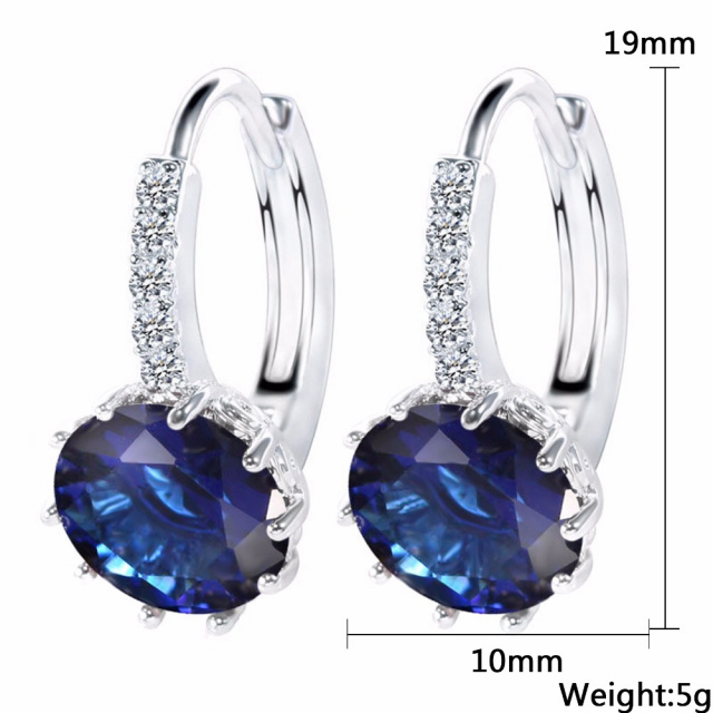 Zirconia Charm Stud Earrings