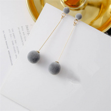Plush Ball Drop Earrings