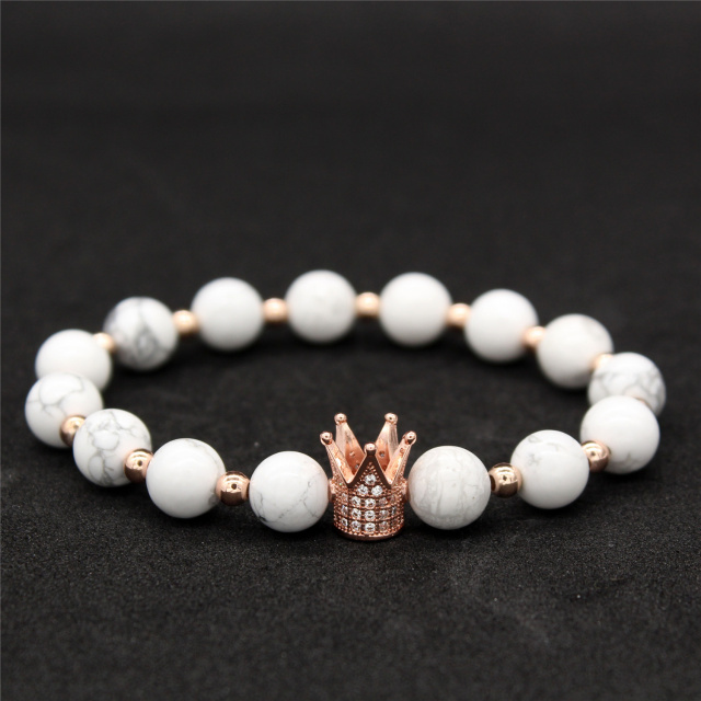 Crown Her King, His Queen Lovers Distance Bracelets – Stacked Collection