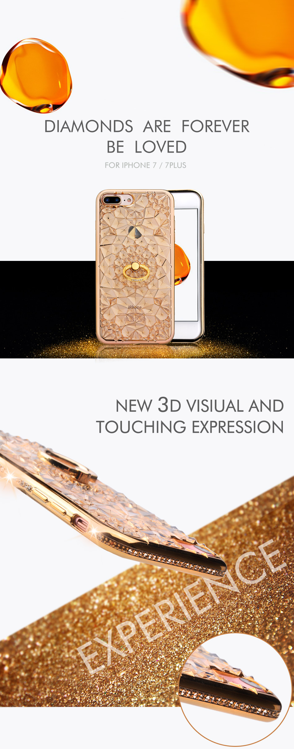 For Iphone 7 Plus gold
