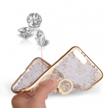Luxury Geometric Diamond Ring iPhone Case