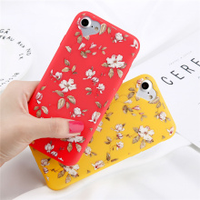 Flowers with heart design iPhone Case